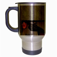 Happy Fathers Day Old Car Travel Mug (Silver Gray)
