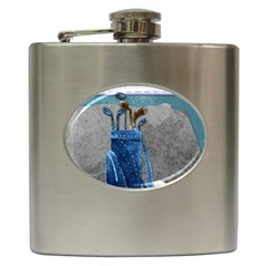 Happy Fathers Day Golf Hip Flask (6 oz)
