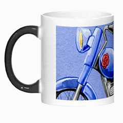 Happy Fathers Day Blue Motorcycle Morph Mugs