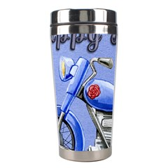Happy Fathers Day Blue Motorcycle Stainless Steel Travel Tumblers