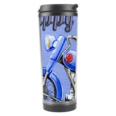 Happy Fathers Day Blue Motorcycle Travel Tumbler