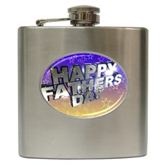 Fathers Day Stars Hip Flask (6 oz)