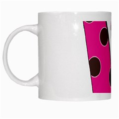 Fathers Day Pink Tie White Mugs