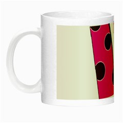 Fathers Day Pink Tie Night Luminous Mugs