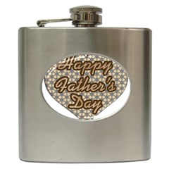 Fathers Day Heart Hip Flask (6 oz)