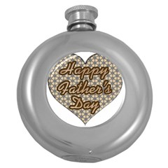 Fathers Day Heart Round Hip Flask (5 oz)