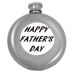 Fathers Day Card Insert Round Hip Flask (5 oz)