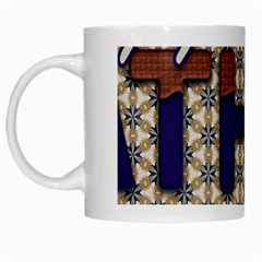 Fathers Day Blue Brown White Mugs
