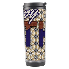 Fathers Day Blue Brown Travel Tumbler