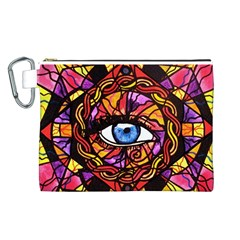 Confident Self Expression   Canvas Cosmetic Bag (large)