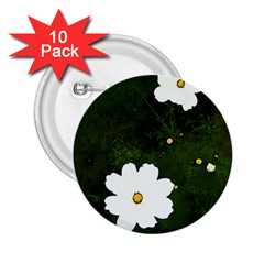 Daisies In Green 2.25  Buttons (10 pack)