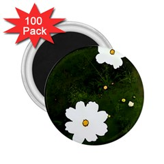 Daisies In Green 2.25  Magnets (100 pack)