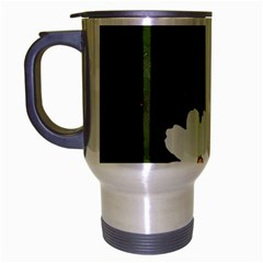 Daisies In Green Travel Mug (Silver Gray)