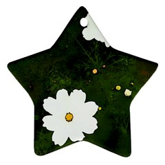 Daisies In Green Star Ornament (Two Sides)