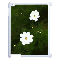 Daisies In Green Apple Ipad 2 Case (white)