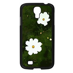 Daisies In Green Samsung Galaxy S4 I9500/ I9505 Case (Black)