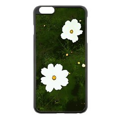 Daisies In Green Apple iPhone 6 Plus/6S Plus Black Enamel Case