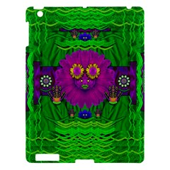 Summer Flower Girl With Pandas Dancing In The Green Apple Ipad 3/4 Hardshell Case