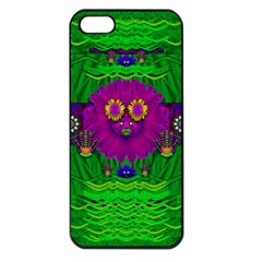 Summer Flower Girl With Pandas Dancing In The Green Apple Iphone 5 Seamless Case (black)
