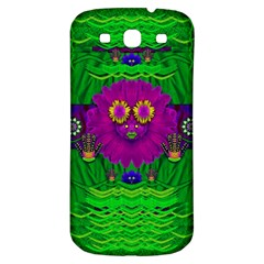 Summer Flower Girl With Pandas Dancing In The Green Samsung Galaxy S3 S Iii Classic Hardshell Back Case