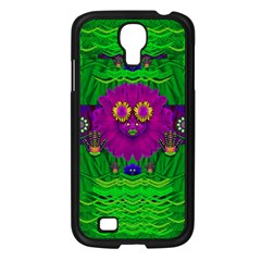 Summer Flower Girl With Pandas Dancing In The Green Samsung Galaxy S4 I9500/ I9505 Case (Black)