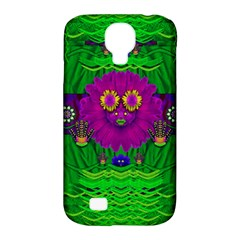 Summer Flower Girl With Pandas Dancing In The Green Samsung Galaxy S4 Classic Hardshell Case (pc+silicone)