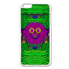 Summer Flower Girl With Pandas Dancing In The Green Apple Iphone 6 Plus/6s Plus Enamel White Case