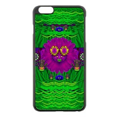Summer Flower Girl With Pandas Dancing In The Green Apple iPhone 6 Plus/6S Plus Black Enamel Case