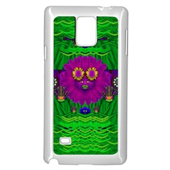Summer Flower Girl With Pandas Dancing In The Green Samsung Galaxy Note 4 Case (White)