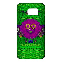 Summer Flower Girl With Pandas Dancing In The Green Galaxy S6