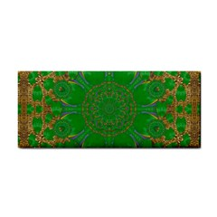Summer Landscape In Green And Gold Cosmetic Storage Cases