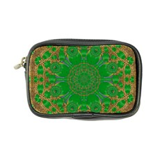 Summer Landscape In Green And Gold Coin Purse
