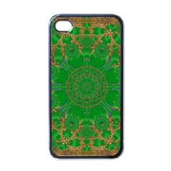 Summer Landscape In Green And Gold Apple Iphone 4 Case (black)
