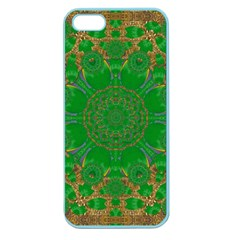 Summer Landscape In Green And Gold Apple Seamless iPhone 5 Case (Color)