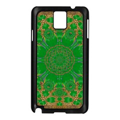 Summer Landscape In Green And Gold Samsung Galaxy Note 3 N9005 Case (Black)