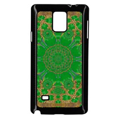 Summer Landscape In Green And Gold Samsung Galaxy Note 4 Case (black)