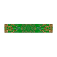 Summer Landscape In Green And Gold Flano Scarf (mini)