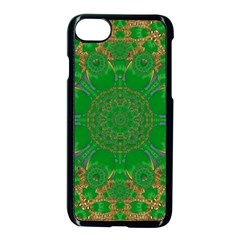 Summer Landscape In Green And Gold Apple iPhone 7 Seamless Case (Black)