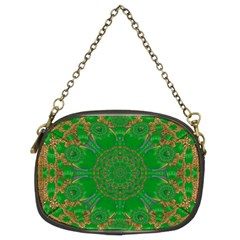 Summer Landscape In Green And Gold Chain Purses (two Sides)