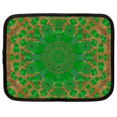 Summer Landscape In Green And Gold Netbook Case (XL)