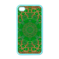 Summer Landscape In Green And Gold Apple iPhone 4 Case (Color)
