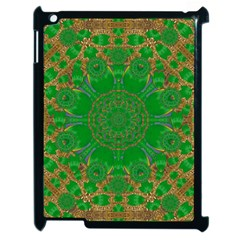 Summer Landscape In Green And Gold Apple iPad 2 Case (Black)