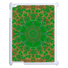 Summer Landscape In Green And Gold Apple iPad 2 Case (White)