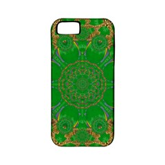 Summer Landscape In Green And Gold Apple iPhone 5 Classic Hardshell Case (PC+Silicone)