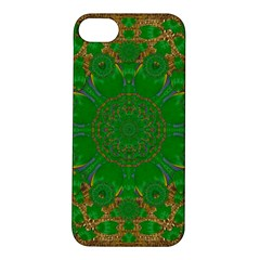 Summer Landscape In Green And Gold Apple iPhone 5S/ SE Hardshell Case