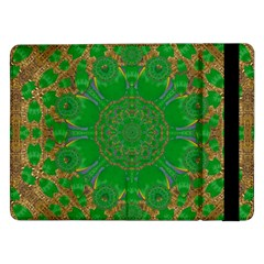 Summer Landscape In Green And Gold Samsung Galaxy Tab Pro 12 2  Flip Case