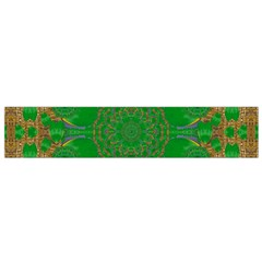 Summer Landscape In Green And Gold Flano Scarf (Small)