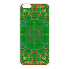 Summer Landscape In Green And Gold Apple Seamless iPhone 6 Plus/6S Plus Case (Transparent)