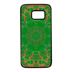 Summer Landscape In Green And Gold Samsung Galaxy S7 Black Seamless Case