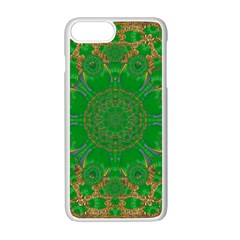 Summer Landscape In Green And Gold Apple iPhone 7 Plus White Seamless Case